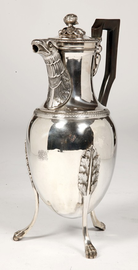 JACQUES GREGOIRE ROUSSEAU -Coffee pot in solid silver, Empire period