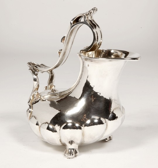 """Orfèvre Tallois - Solid silver jug called """"Askos"""" 19th century"""
