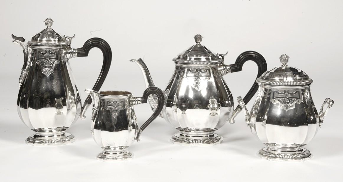 Orfèvre Broliquier et Rodet - Service the / coffee solid silver - late XIXè