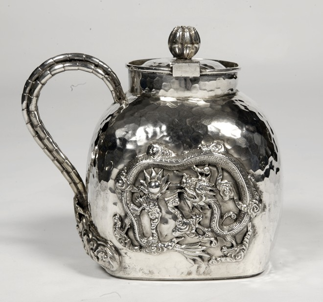 Silversmith Tu Mao Xing - Chinese silver teapot - early 20th century