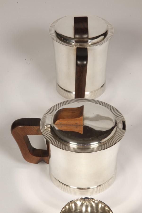 Goldsmith JEAN E. PUIFORCAT - ART DECO sterling silver tea coffee service
