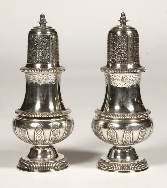 Goldsmith CARDEILHAC - Pair of solid silver sprinklers XIXth century