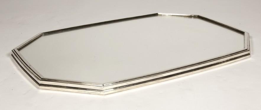 Goldsmith JEAN TETARD - Surtout de table mirror in solid silver -ART DECO vers1930