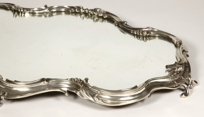 Goldsmith Puiforcat - Surtout de  table mirror and solid silver nineteenth