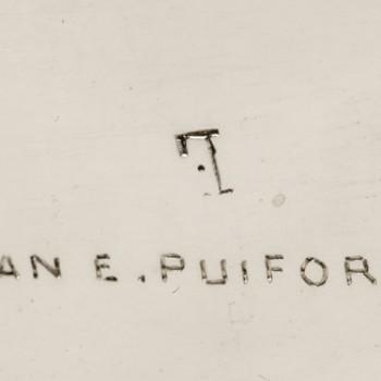 Jean E. Puiforcat - Important centerpièce art-déco in sterling silver