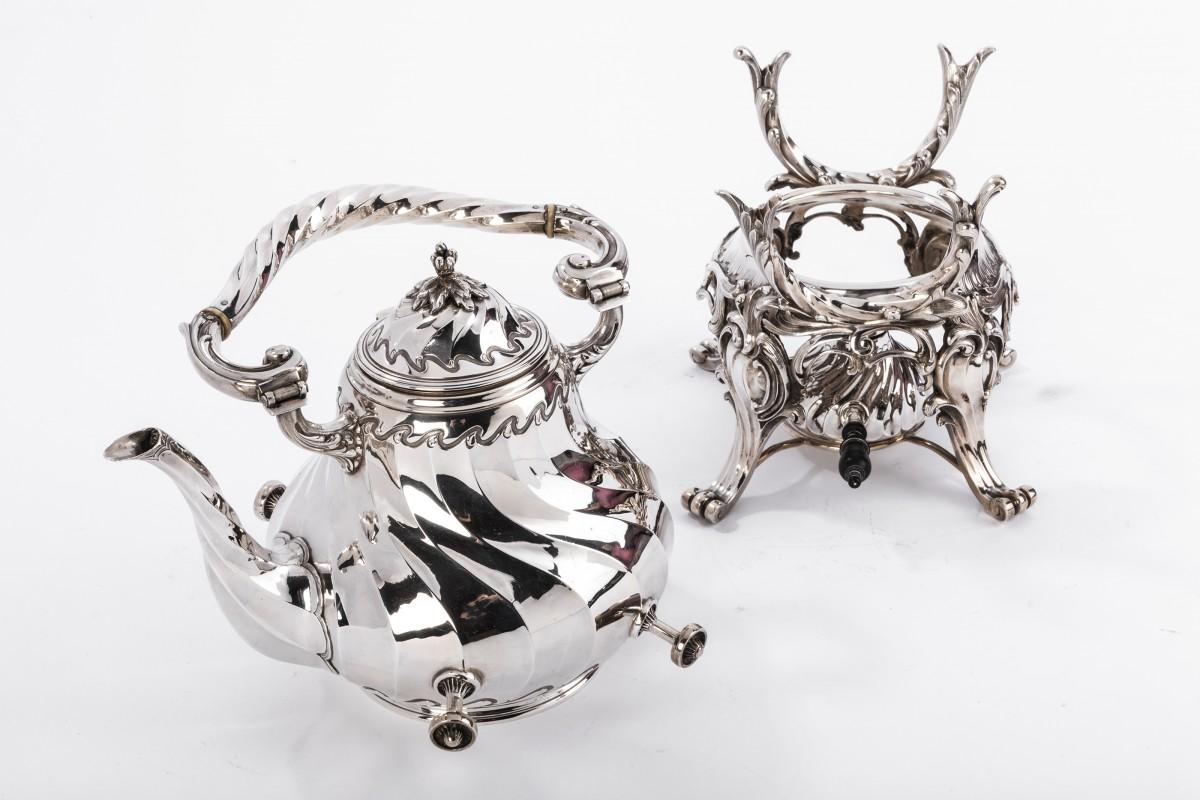 Goldsmith MARTIN Marie Vve - Samovar rockery in solid silver XIXth