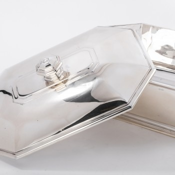 Puiforcat - Tureen covered in solid silver ART DECO period circa 1930
