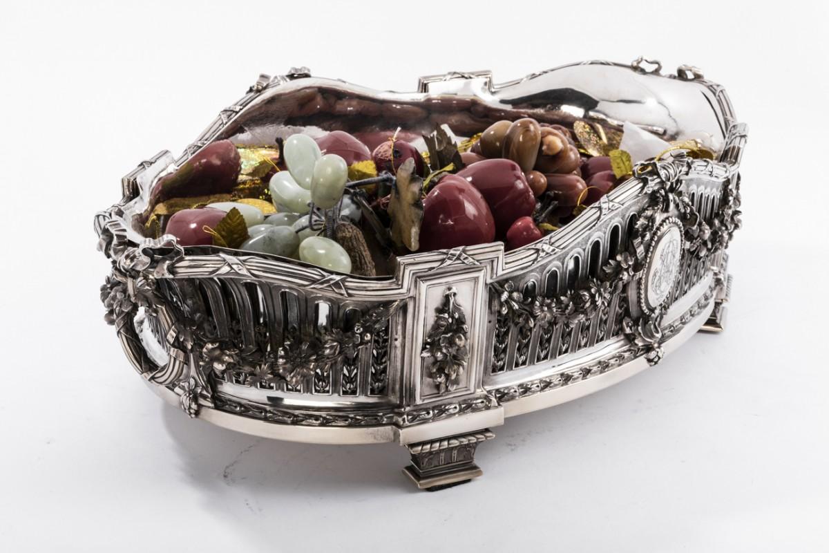 AUCOC & TETARD Solid silver centerpiece - planter agent massif XIX th