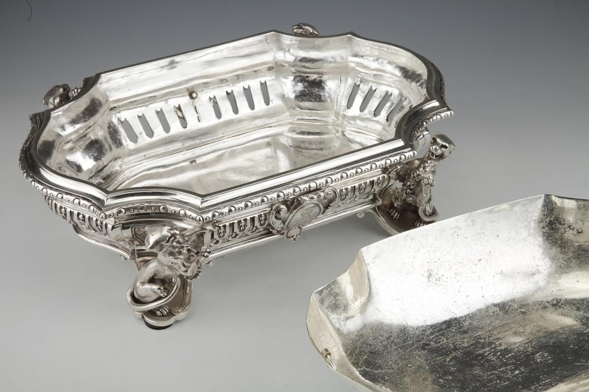 Goldsmith ODIOT - Important Jardiniere Napoleon III Period circa 1850