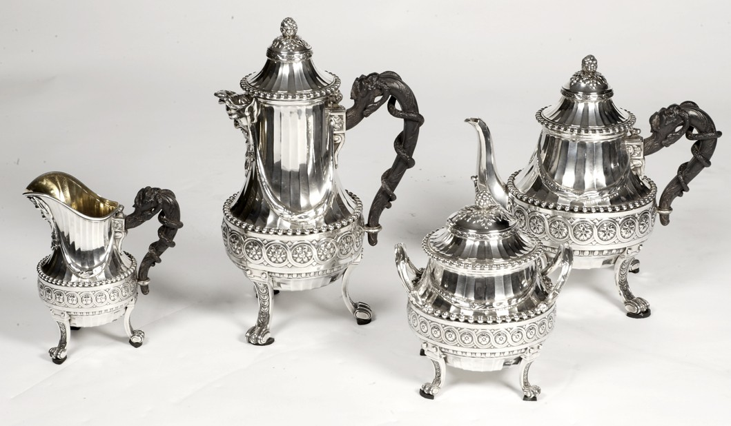 Tea and coffee set late 19th by CARDEILHAC