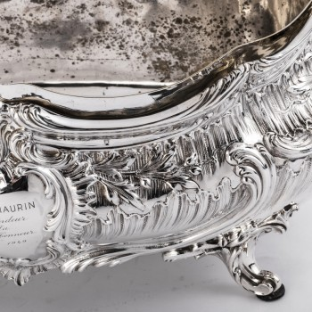 Goldsmith Armand GROSS - Rockery planter in solid silver 19th