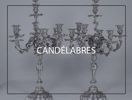 CANDLESTICKS and CANDELABRA
